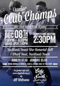 Junior Club Champs Flyer City of Sails
